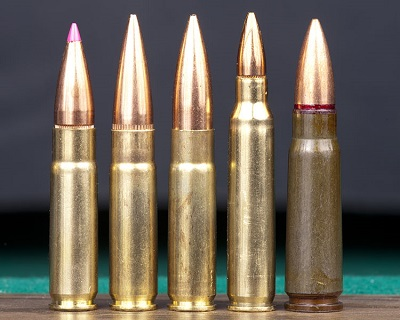 Five cartridges of .300 Blackout