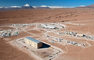 Birds eye view of the ALMA site
