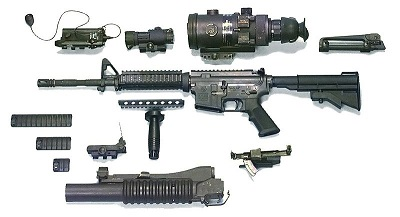 Parts of M4/A1 MWS w/ equipment