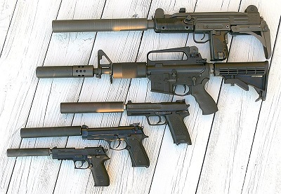 5 firearms with suppressors