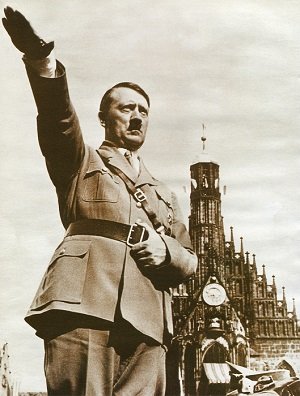Adolf Hitler saluting in Berlin