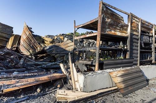 Burnt structure