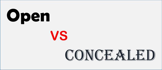 Open vs Concealed logo